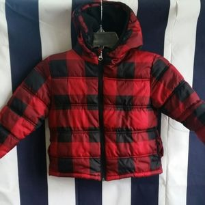 Other - 3T red and black puffer coat